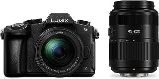 Panasonic Lumix DMC-G80W - Cámara EVIL de 16 MP Pantalla de 3 Visor OLED RAW Wi-Fi 4K Kit con Doble Objetivo Lumix Vario 12 - 60 mm/F3.5-5.6 y 45 - 200 mm/F4-5.6 II Color Negro