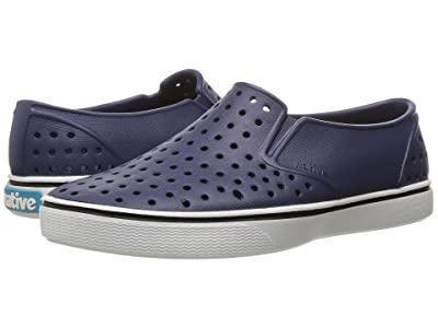Native Kids Shoes Miles Slip-On (Little Kid/Big Kid) (Regatta Blue/Shell White) Kids Shoes