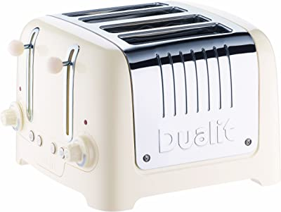 Dualit 46213 4 Slot Lite Toaster in Canvas White Finish