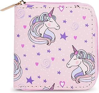 Playful Stylish and Fun Girls Wallet (Pink Unicorn Square)