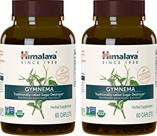 Himalaya Organic Gymnema Sylvestre for Blood Sugar Support and Metabolism, 700 mg, 60 Caplets, 2 Month Supp...