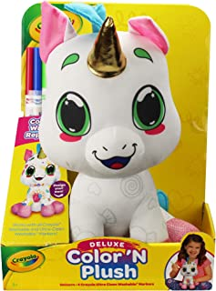 """Crayola 12"""" Deluxe Color 'N Plush Unicorn - Draw, Wash Reuse"""