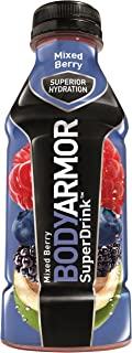 BODYARMOR Sports Drink Sports Beverage, Mixed Berry, 16 Fl Oz (Pack of 12), Natural Flavor With Vitamins, Potassium-Packed Electrolytes, No Preservatives, Perfect For Athletes