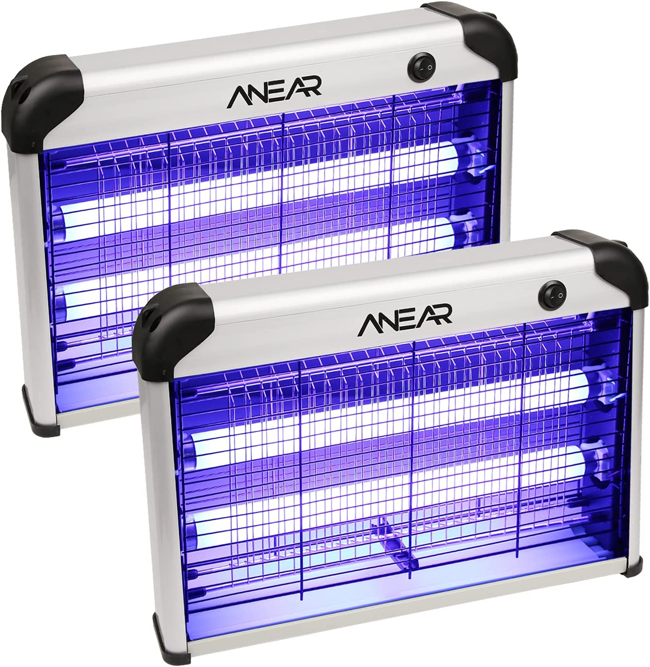 2 Pack Electric Bug Zapper, ANEAR Insect Killer with 20W 2400V Power Grid Mosquito Zapper Trap - Mosquito, Fly, Moth, Wasp, Beetle & Other Pests Killer for Backyard, Patio : Garden & Outdoor