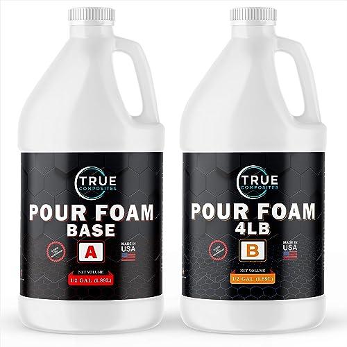 TRUE COMPOSITES Liquid Urethane 12 Gallon Kit - 4 Lb Density- 2 Part Closed Cell Rigid Pour Foam - Fast-Acting Formul...
