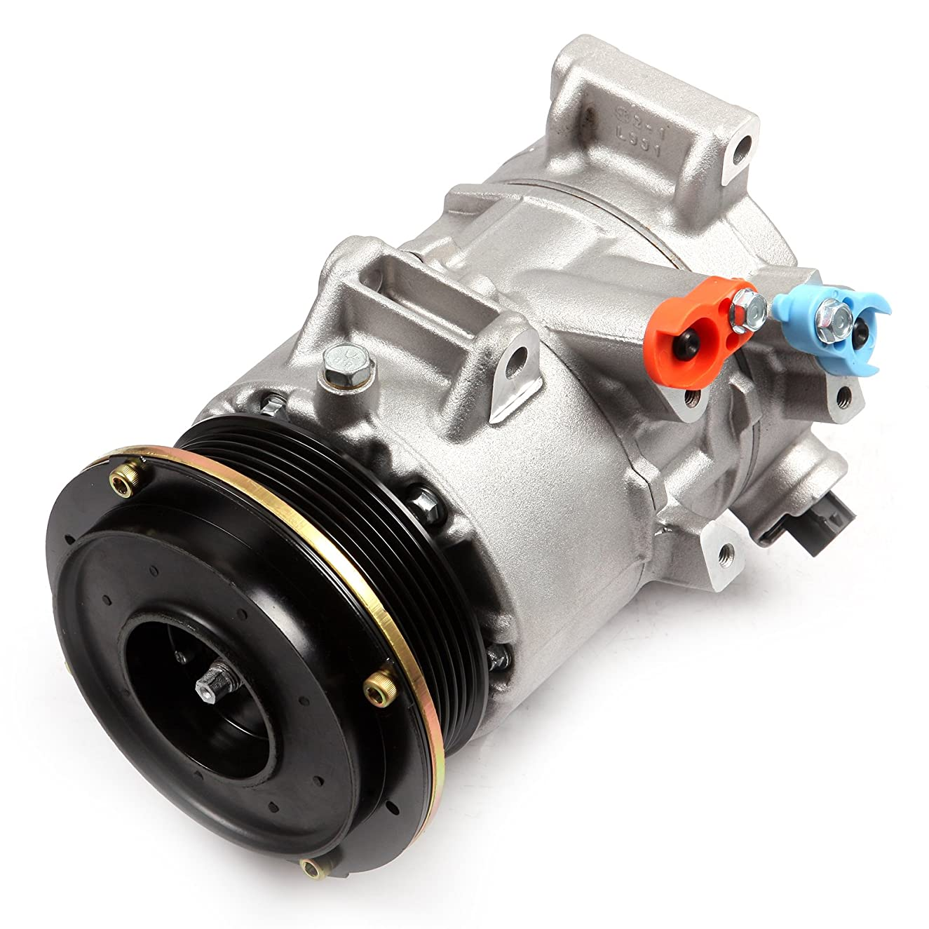 ECCPP AC Compressor and A/C Cluth Replacement for CO 11178JC Automotive Replacement Compressor Assembly for 2006-2008 2007 Toyota RAV4 2.4L DW97386
