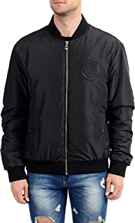 Versace Collection Black Men's Insulated Bomber Jacket US XL IT 54