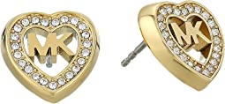 Michael Kors - Love Is In The Air Pave Heart Stud Earrings