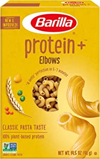 Barilla Protein Plus Elbows Pasta, 14.5 Ounce (Pack of 12)