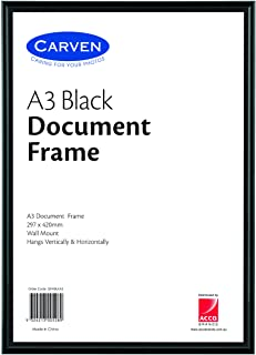 CARVEN QFWBLKA3 Document Frame, Black A3