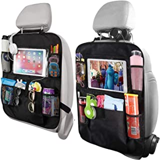H HOME-MART Car Organisers,2 Pack Car Back Seat Organiser for kids,Car Seatback Protector with 10inch Tablet Holder,Backse...