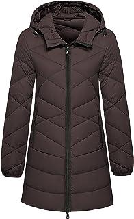 Wantdo Women's Hooded Packable Ultra Light Weight Hip-Length Down Jacket
