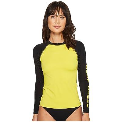 Body Glove 80s Throwback Push It Rashguard (Yellow) Women