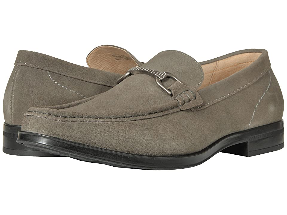 Stacy Adams Newcomb Moc Toe Penny Loafer (Gray Suede) Men