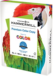 Hammermill Printer Paper, Premium Color 32 Lb Copy Paper, 8.5 x 11 - 1 Ream (500 Sheets) - 100 Bright, Made in the USA, 10...