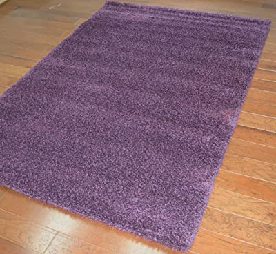 Déjà Vu Purple Grape Shag 5x8 Area Rug 53 W x 77