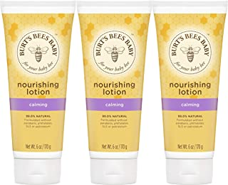 Burt's Bees Baby Nourishing Lotion, Calming Baby Lotion - 6 Ounce Tube - Pack of 3
