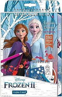 Make It Real - Disney Frozen 2 Fashion Design Sketchbook. Disney Inspired Fashion Design Coloring Book for Girls. Includes...