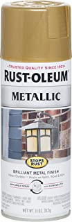 rustoleum metallic gold spray paint