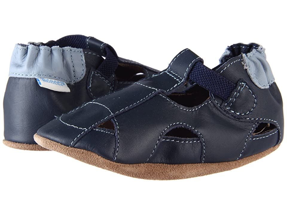 Robeez Fisherman Sandal (Infant/Toddler) (Navy) Boys Shoes