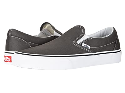 Vans Classic Slip-Ontm Core Classics (Charcoal (Canvas)) Shoes