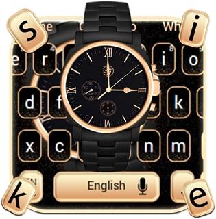 Luxury Gold Watch Keyboard Theme