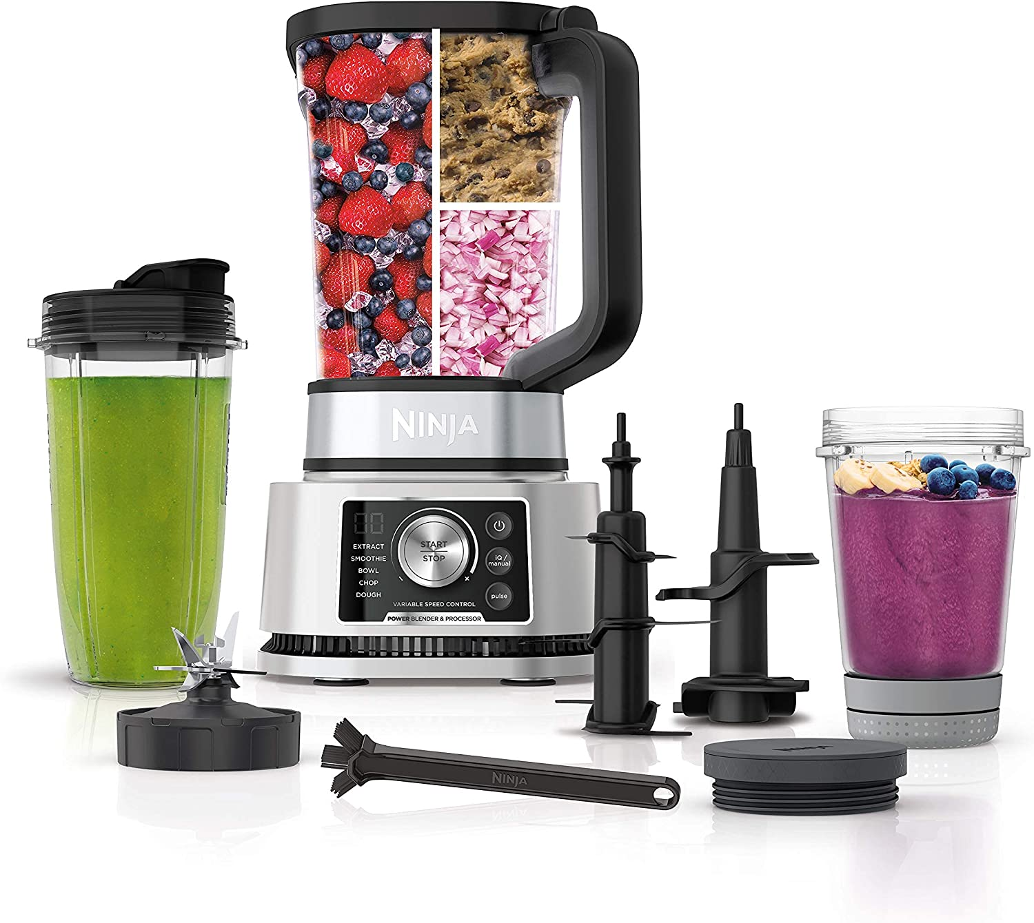 Ninja SS351 Foodi Max 68% OFF Power Pitcher Smoothie Maker 4in Fees free!! System Bowl