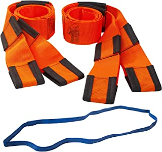 Forearm Forklift Lifting and Moving Straps for Furniture, Appliances, Mattresses or Heavy Objects up to 800 Pounds 2-Person, Includes Mover`s Rubber Band, Orange, Model L74995CNFRB