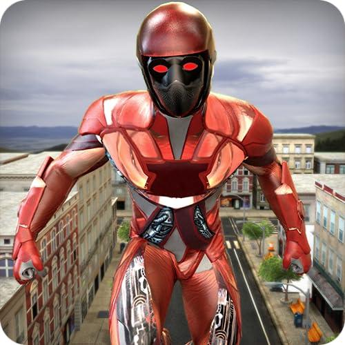 Flying Captain Hero: Robot Superhero City War
