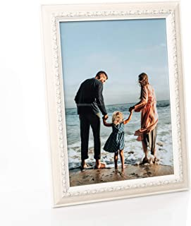 Victoria Collection Photo Frame, Wood, White, A4-8,3 x 11,7 (21x29,7 cm)