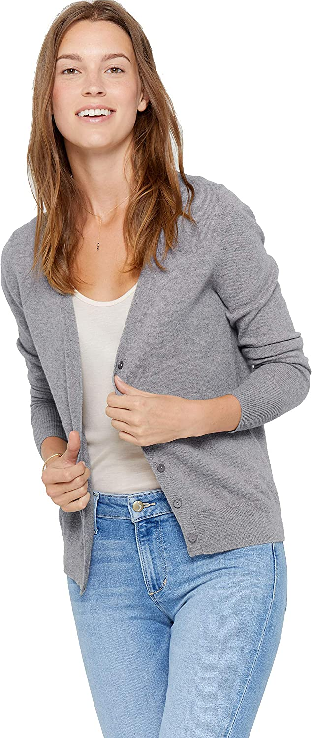 2021 model State Cashmere Women's 100% Pure Button Ca Front V-Neck Directly managed store