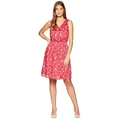 U.S. POLO ASSN. Floral V-Neck Dress (Teaberry) Women