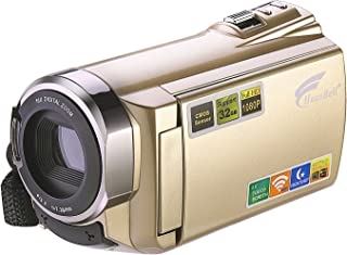 HAUSBELL Camcorder Video Camera, HD Camcorder Digital Camcorder with Digital Video Camera WiFi Video Recorder 1920x1080P Digital Zoom Camera Recorder HDV-5052 with Infrared Night Vision Touch Screen
