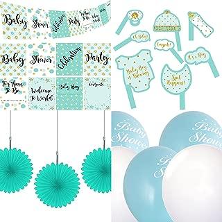 Bandiera Baby Shower Bandiera Welcome Baby Blu per Bomboniere per Feste per Bambini Decorazioni