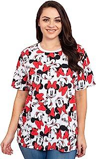 Womens Plus Size T-Shirt Minnie Mouse Print