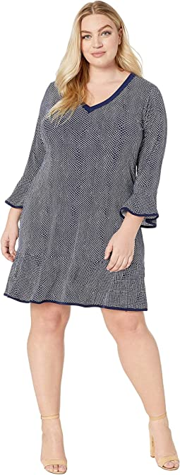 Plus Size Graphic Mamba Flounce Dress
