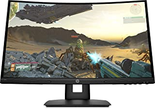 HP X24c Curved Gaming Monitor, 23.6 Inch FHD, 300 nits, 16:9, AMD Freesync, 1500R curvature, Black