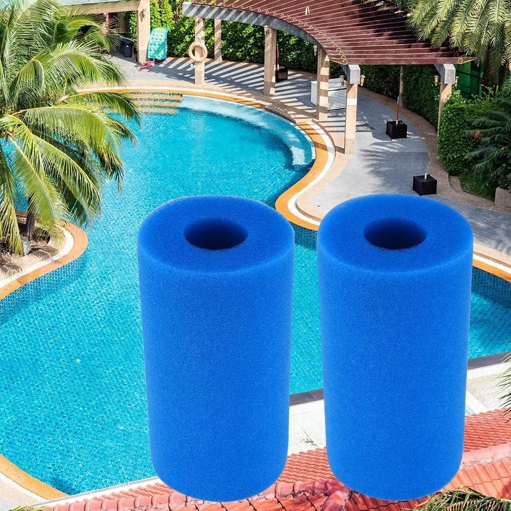 Filtro de Espuma para Piscina, 2 unids Esponja de Filtro para Intex Tipo A, filtro cartucho esponja reutilizable lavable filtro de piscina para el Tipo A de Intex