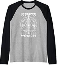 Beautiful Illuminati Eye In Crypto We Trust Pyramid Raglan Baseball Tee
