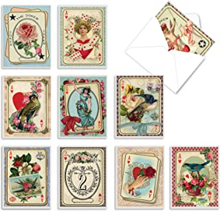 Best The Best Card Company - 10 Boxed Valentine Note Cards with Envelopes - Loving, Heartfelt Assorted Greeting Cards for Valentine