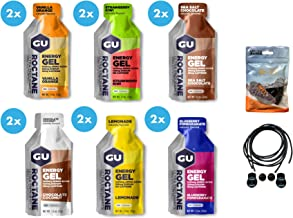 GU Roctane Ultra Endurance Energy Gels – Pack of 12 Includes 2 x Six Different Flavours Bundled with an Exclusive Pack of Elastic No-tie Reflective Shoe Laces Estimated Price : £ 32,99