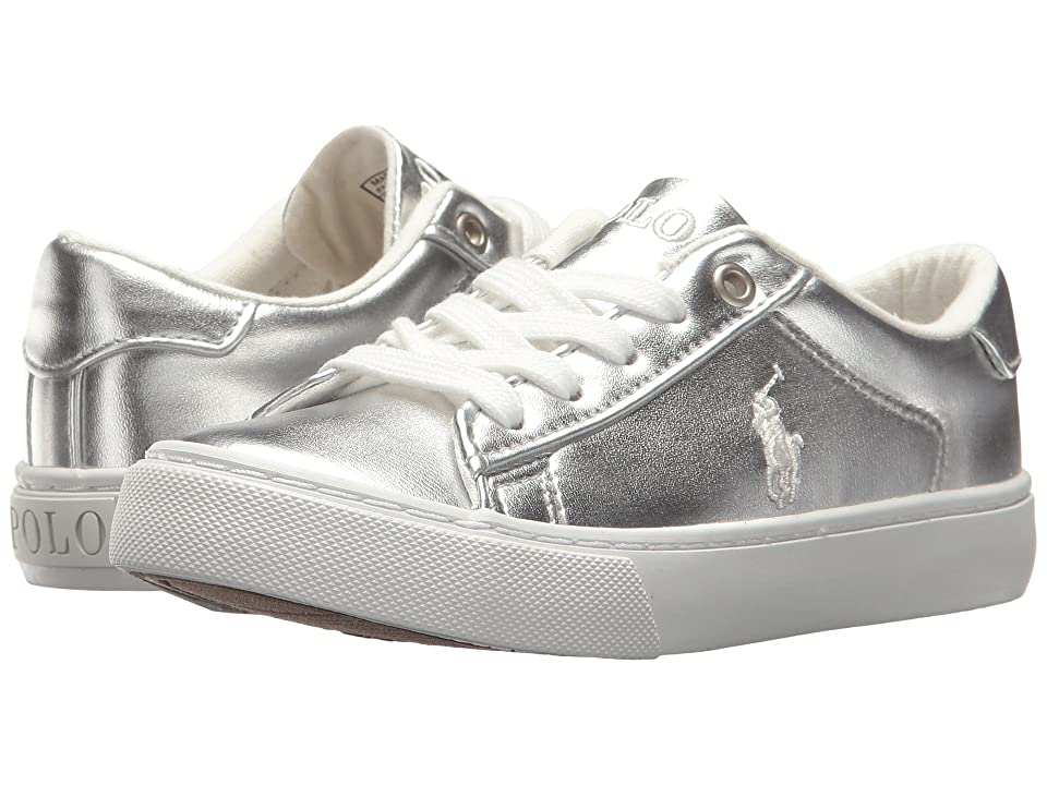 Polo Ralph Lauren Kids Easten (Little Kid) (Silver Metallic/White Pony Player) Kid