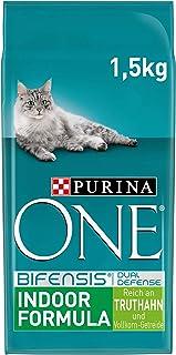 Purina One BIFENSIS Indoor Formula kattendroog voering: rijk aan kalkoen en granen, rijk aan ballaststof voor katten, Verp...