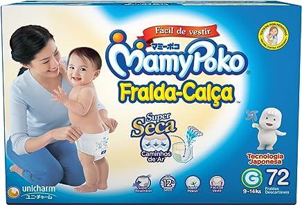 Fralda-Calça MamyPoko tamanho G, pacote contendo 72 unidades