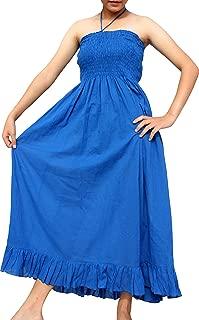 Brand Smock Bust Halter Top Soft Thai Cotton Gypsy Dress