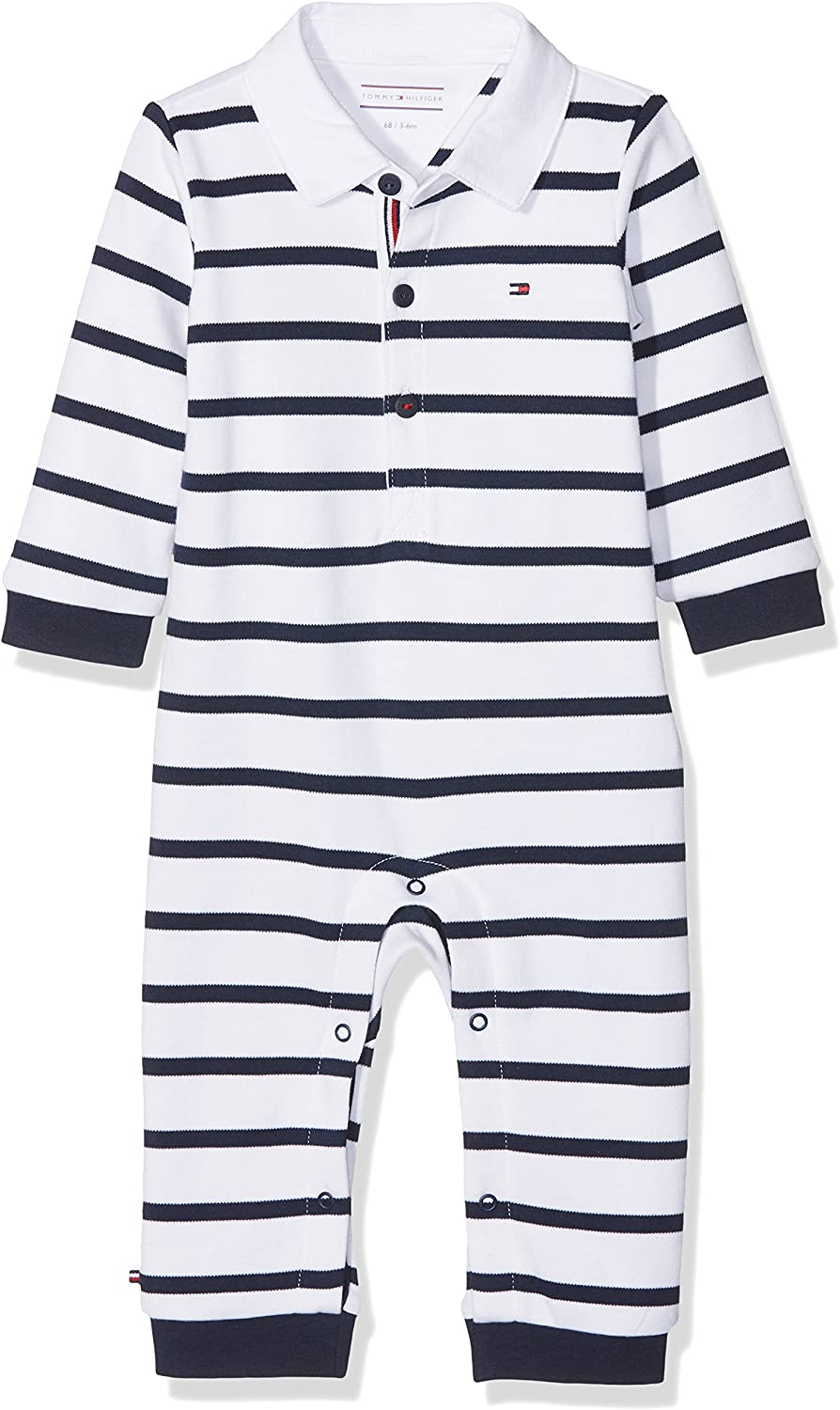 Tommy Hilfiger Baby Rugby Stripe Coverall L//S Polaina para Beb/és