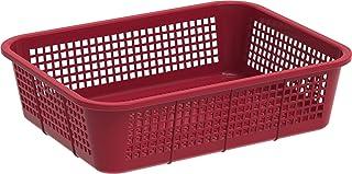 Cosmoplast Plastic Fruit Tray Storage Basket Small (Dark Red)