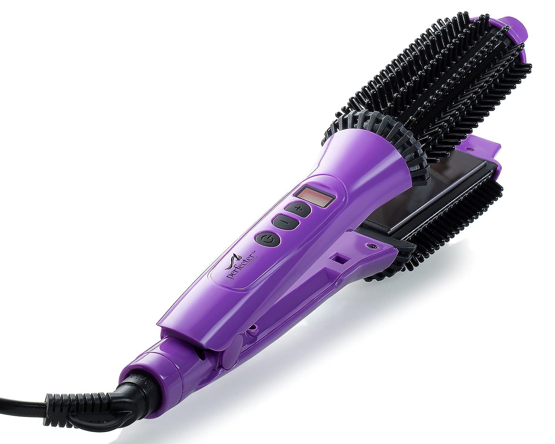 Perfecter Flat Iron Hair Straightener 35% OFF Hot San Antonio Mall 2-in-1 - Round Brush