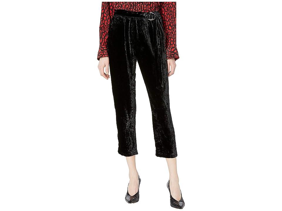 The Kooples Velvet Skinny Sweatpants (Black) Women
