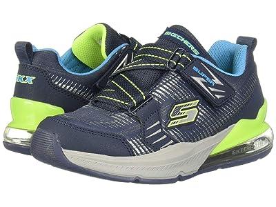 SKECHERS KIDS Super Z Sneaker 97742L (Little Kid/Big Kid) (Navy/Lime) Boy